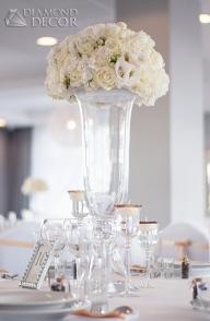 kwiaty ecru na weselu